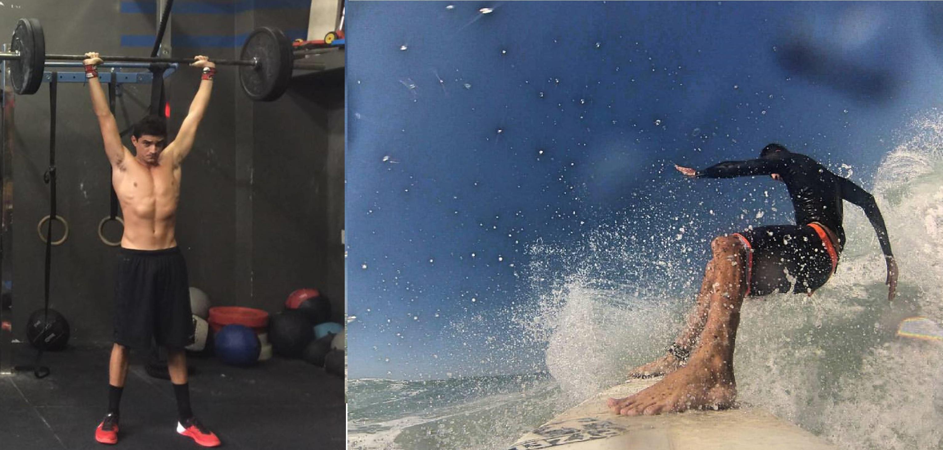 Luis Felipe conta que sua qualidade de vida e sua performance no surfe tiveram uma melhora extrema e não se imagina mais longe do Box (Reprodução / Luis Felipe)