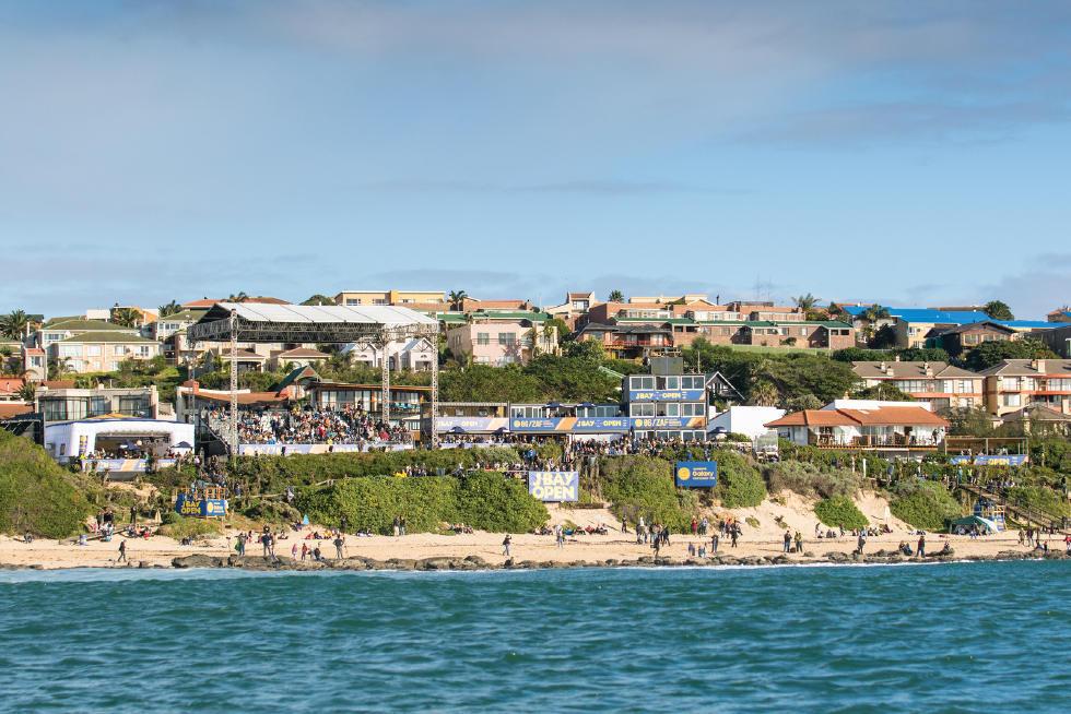 Local da competição em Jeffreys Bay, África do Sul (Foto: WSL / Kelly Cestari)
