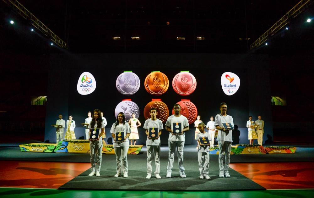 Medalhas foram apresentadas em evento realizado na Arena do Futuro, no Parque Olímpico da Barra (Rio 2016/Alex Ferro)