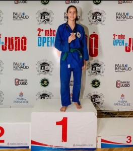 Kalei Plocki em um Campeonato de Judô