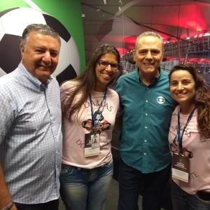Arnaldo Cezar Coelho, Fernanda Pizzotti, Luis Roberto e Luciana Zogaib